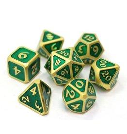 Die Hard Dice 7-Set Dice: Mythica Satin Gold Emerald