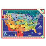 Eeboo This Land is Your Land - 100 Piece Jigsaw Puzzle