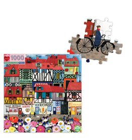 Eeboo Whimsical Village- 1000 Piece Jigsaw Puzzle