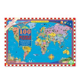 Eeboo World Map  - 100 Piece Jigsaw Puzzle (eeBoo)