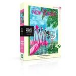 New York Puzzle Company Charles Saxon - Flamingo Photographer - 500 Piece Jigsaw Puzzle