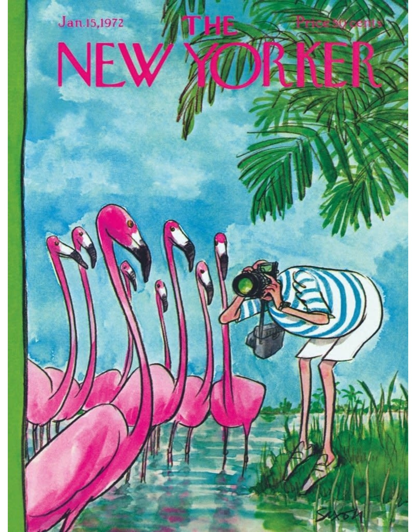 New York Puzzle Company Charles Saxon - Flamingo Photographer 500p