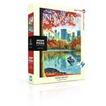 New York Puzzle Company Eric Drooker - Central Park Row - 500 Piece Jigsaw Puzzle