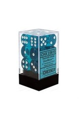 Chessex Chessex: Translucent Teal with White d6 Dice (12)