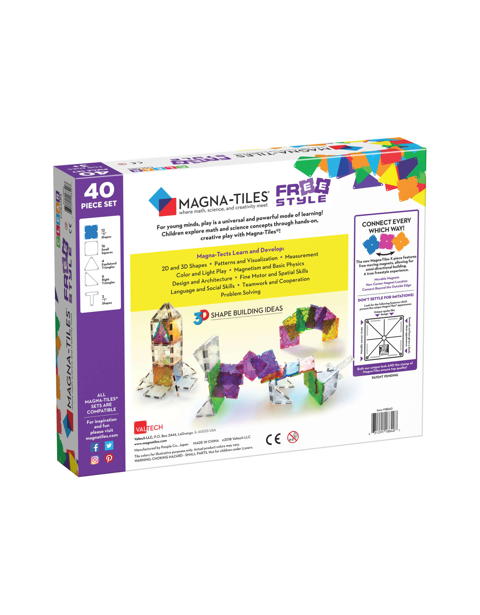Magna-Tiles Magna-Tiles Freestyle 40p Set