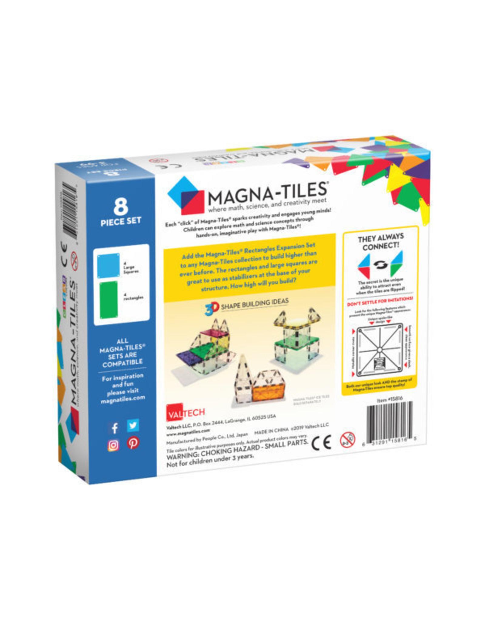 Magna-Tiles Magna-Tiles Rectangles 8 Piece Expansion Set
