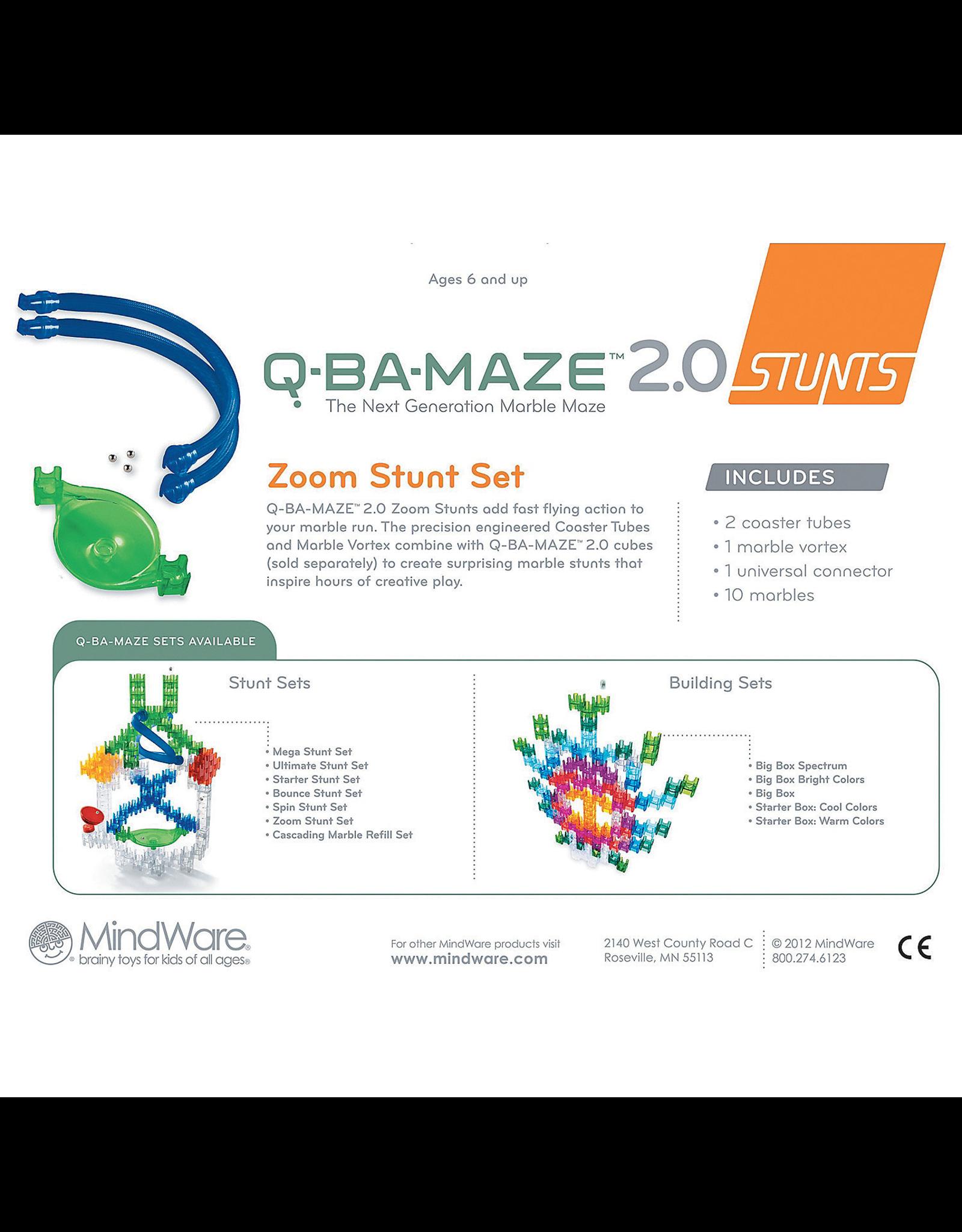 Mindware Q-Ba-Maze 2.0 Zoom Stunt Set