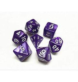 HD Dice Dice: 7-Set Pearl Purple/White (HD)