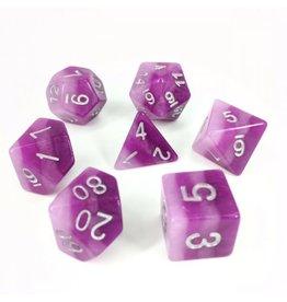 HD Dice Dice: 7-Set Gradient Purple/Silver (HD)