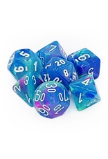 Chessex Dice: 7-Set Festive Waterlily with White Numbers (Chessex)