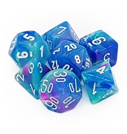 Chessex Dice: 7-Set Festive Waterlily w/White (Chessex)