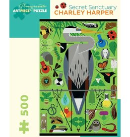 Pomegranate Charley Harper: Secret Sanctuary - 500 Piece Jigsaw Puzzle
