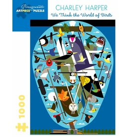 Pomegranate Charley Harper: We Think the World of Birds - 1000 Piece Jigsaw Puzzle