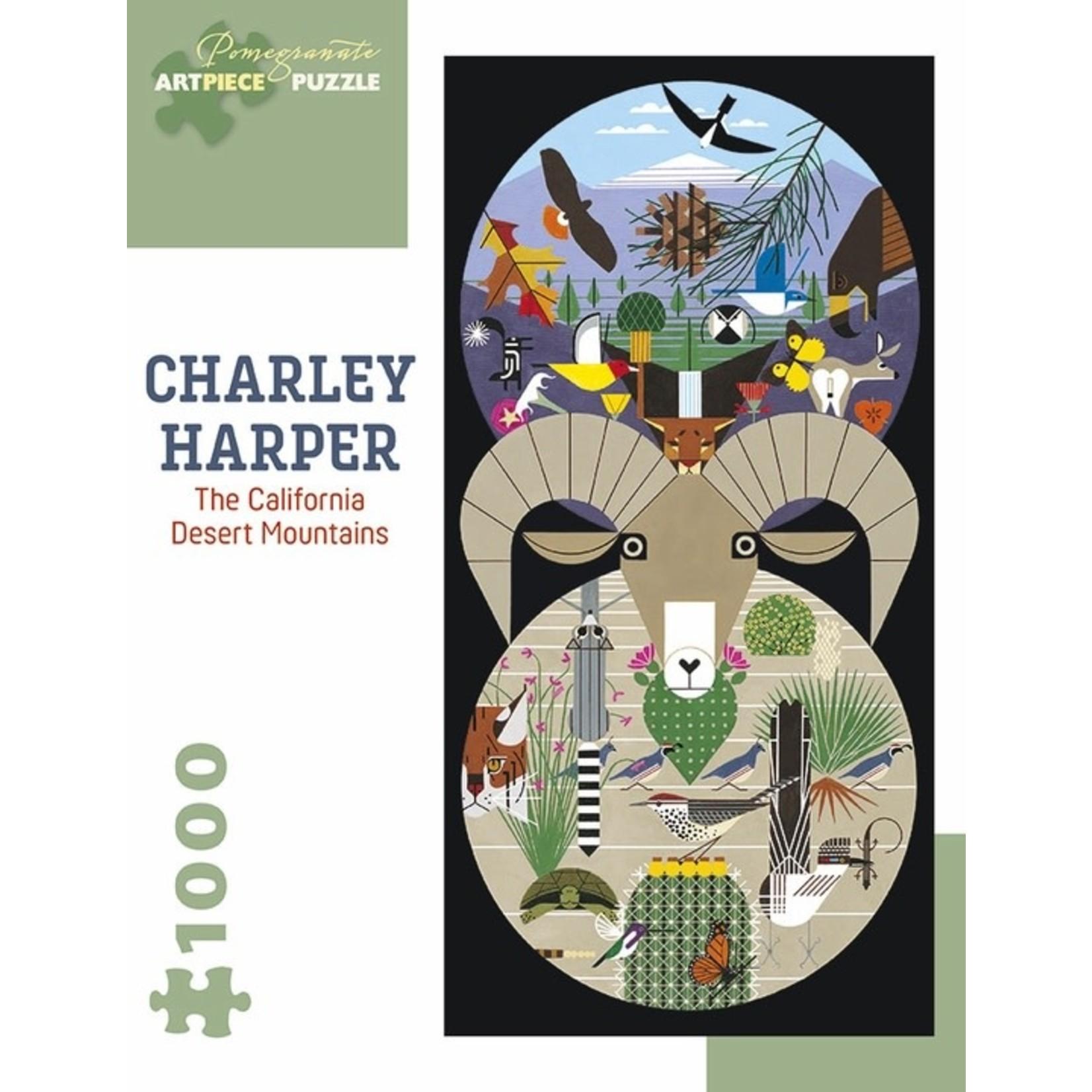 Pomegranate Charley Harper: California Desert Mountains - 1000 Piece Jigsaw Puzzle