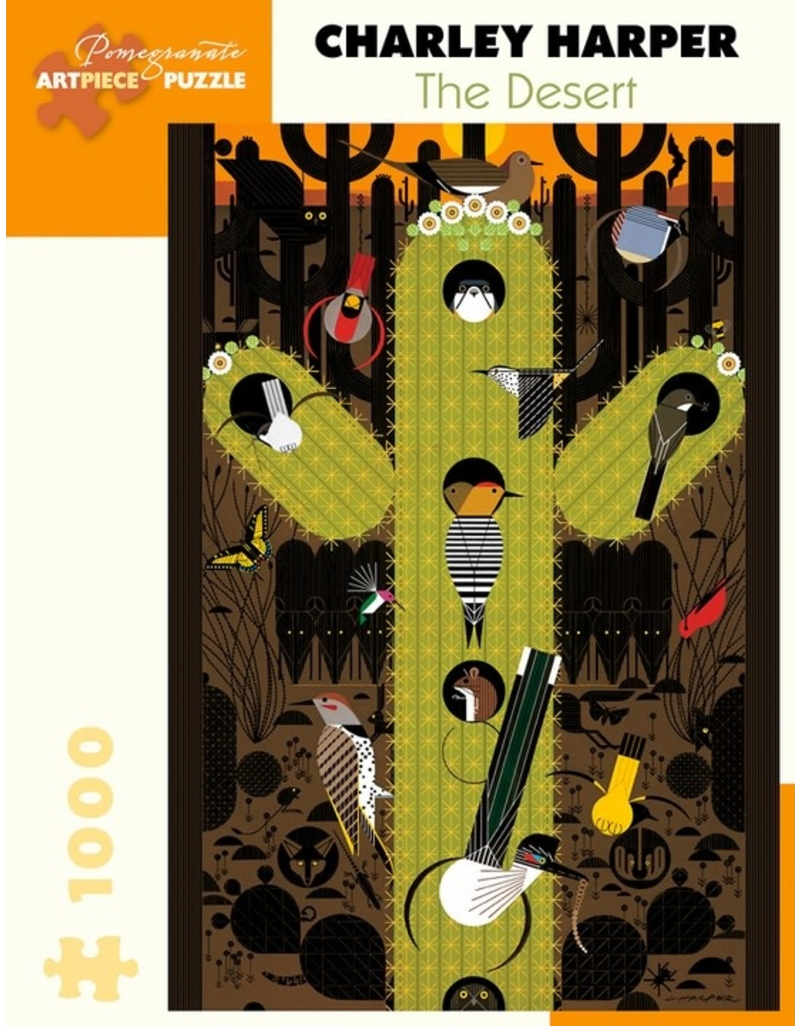 Pomegranate Charley Harper: The Desert 1000 pieces