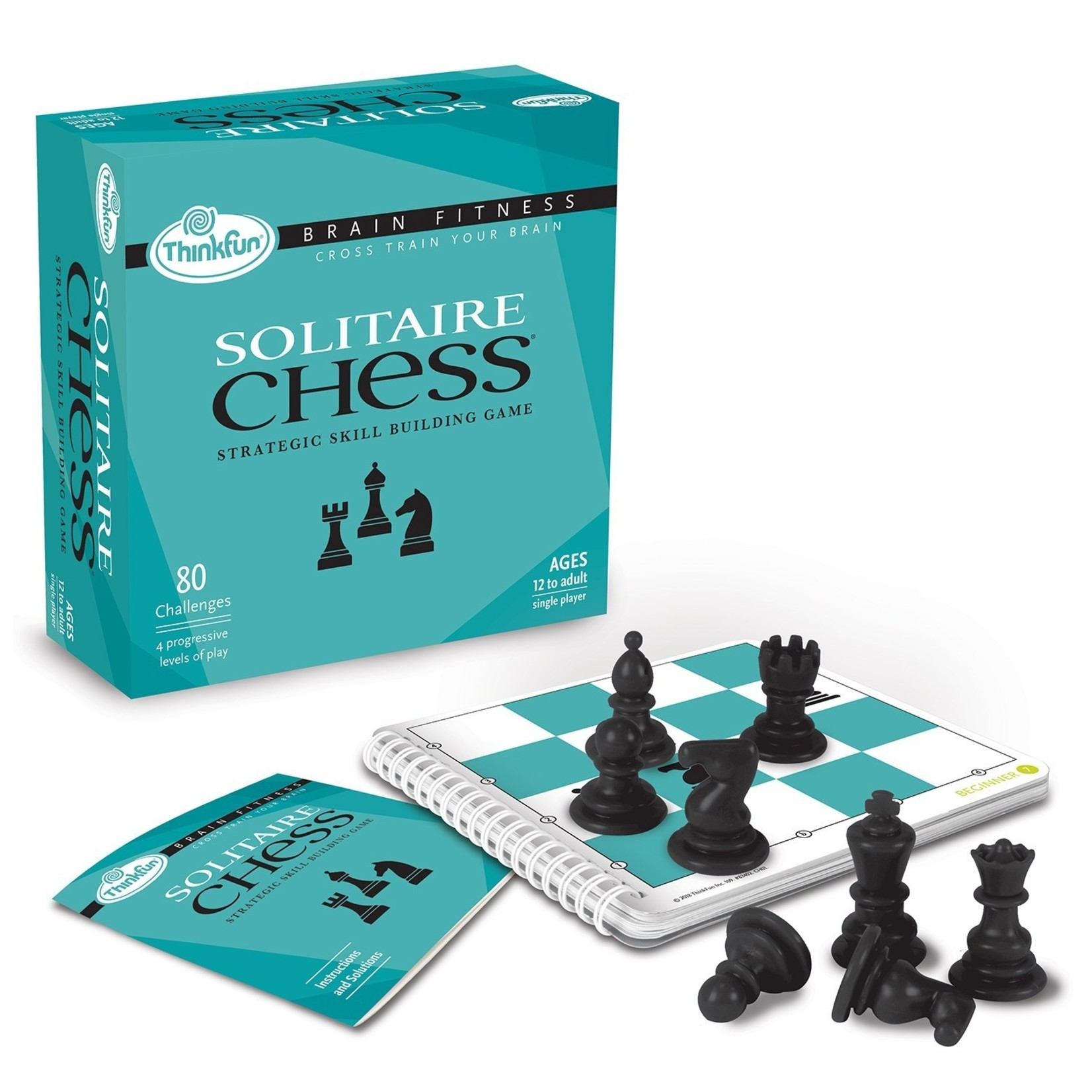 ThinkFun Solitaire Chess Brain Fitness Puzzle Game