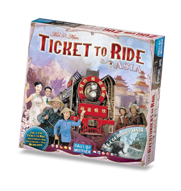 Days of Wonder Ticket to Ride Asia Map