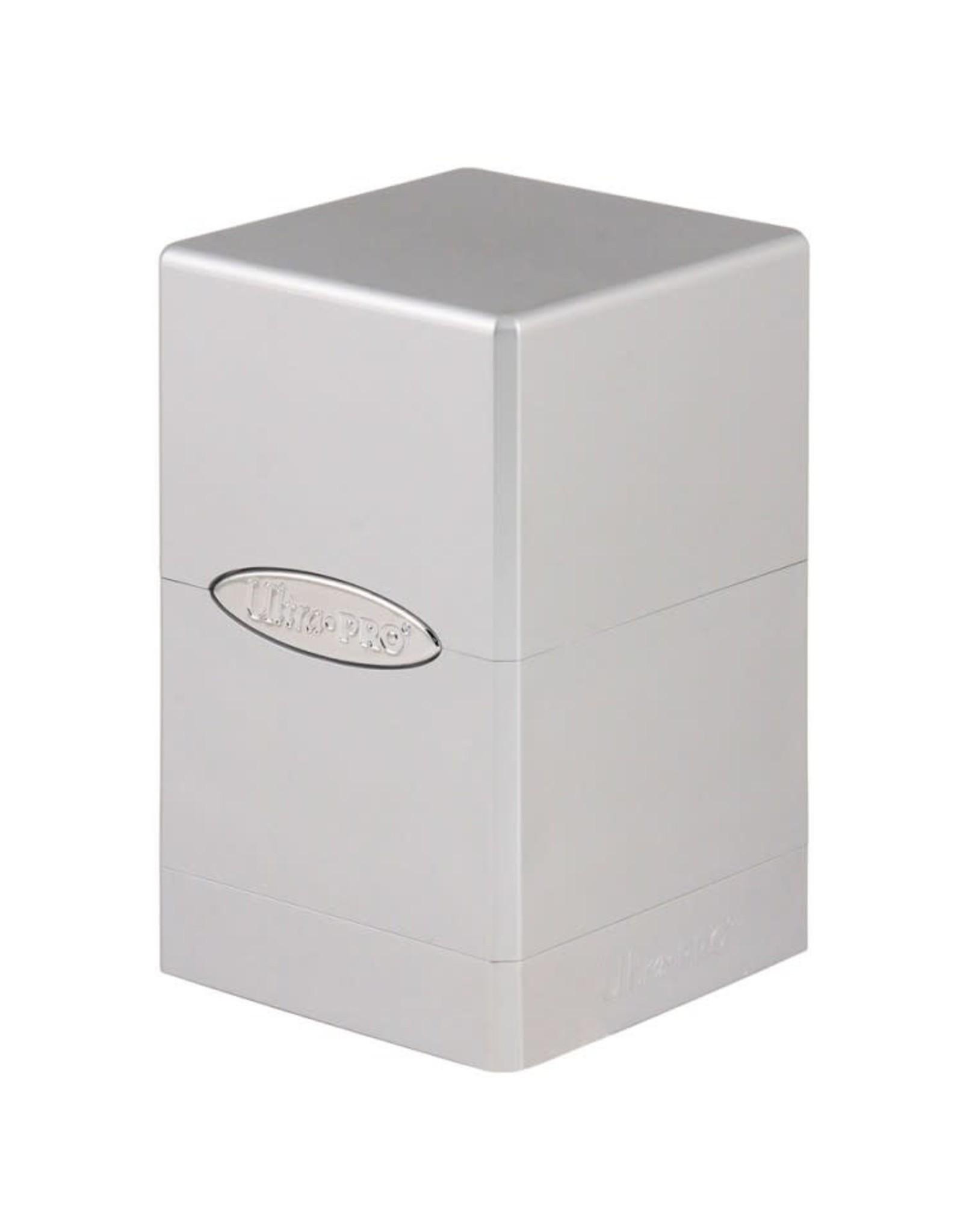 Ultra Pro Ultra Pro: Satin Tower Metallic Silver Deck Box