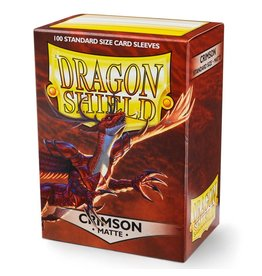 Dragon Shield DS Matte Crimson Card Sleeves (100)