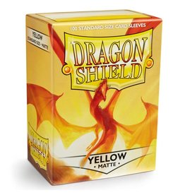 Dragon Shield DS Matte Yellow Card Sleeves (100)
