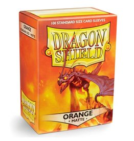 Dragon Shield DS Matte Orange Card Sleeves (100)