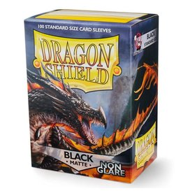 Dragon Shield DS Matte Non-Glare Black Card Sleeves (100)