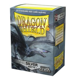 Dragon Shield DS Matte Non-Glare Silver Card Sleeves (100)