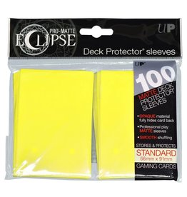 Ultra Pro Pro-Matte Eclipse Lemon Yellow Card Sleeves (100)