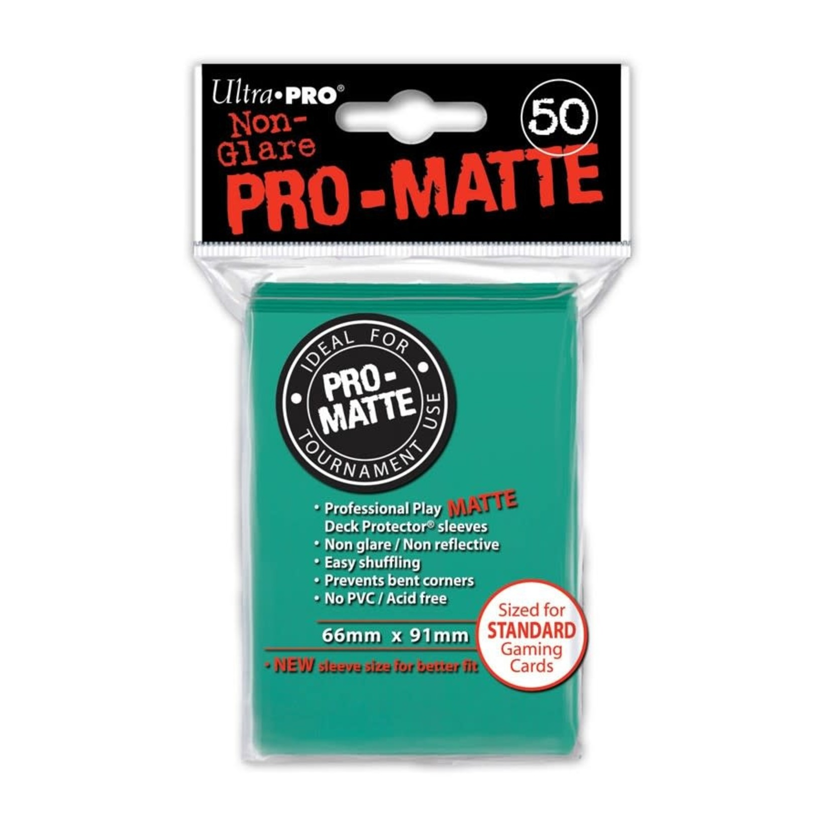 Ultra Pro Pro-Matte Aqua Card Sleeves (50)