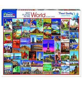 White Mountain Puzzles Best Places in the World 1000p