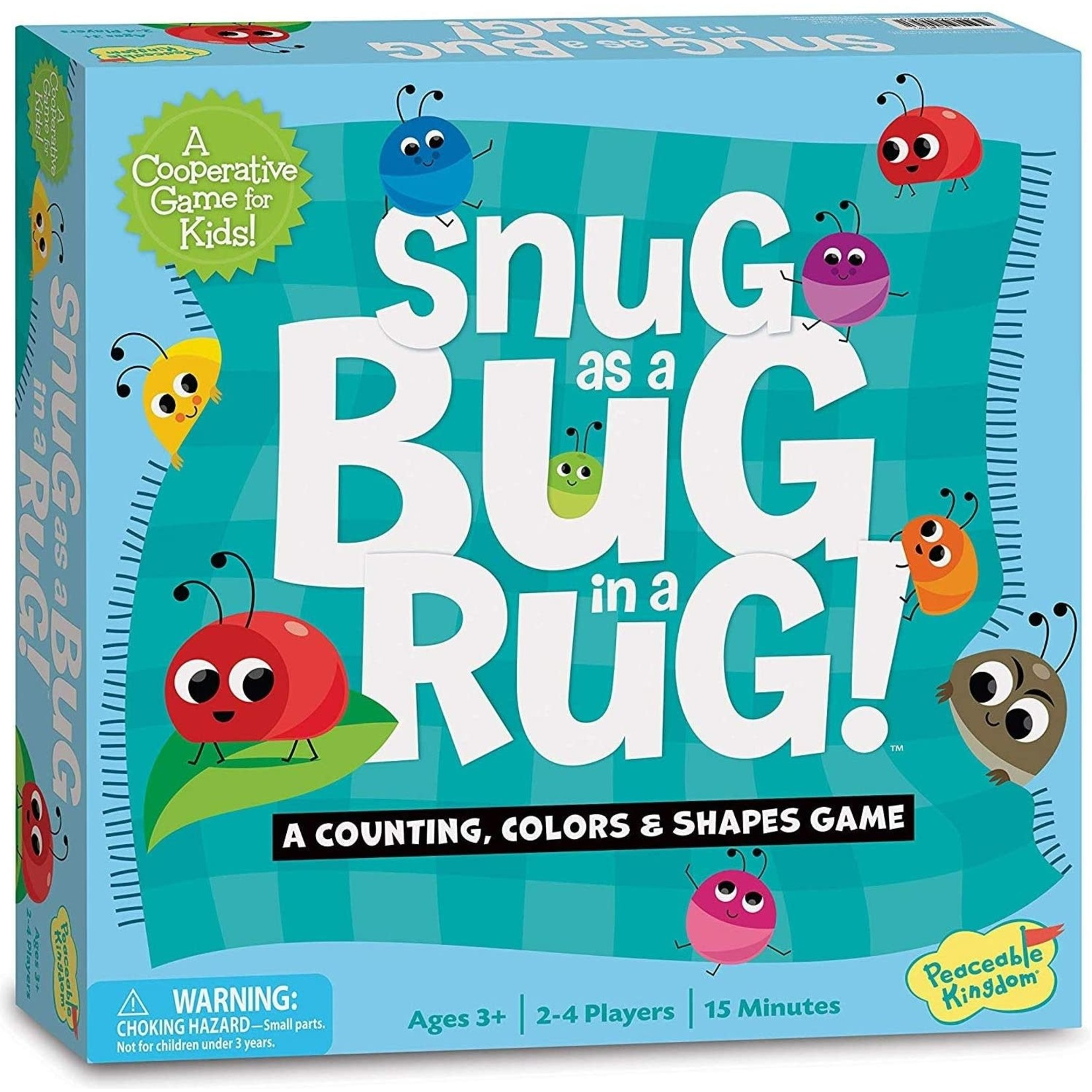 Peaceable Kingdom Snug as a Bug in a Rug! A Counting, Colors & Shapes Game
