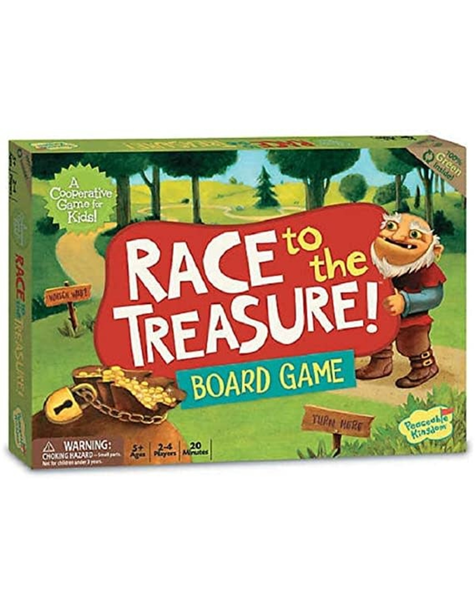 Peaceable Kingdom Race to the Treasure! Board Game