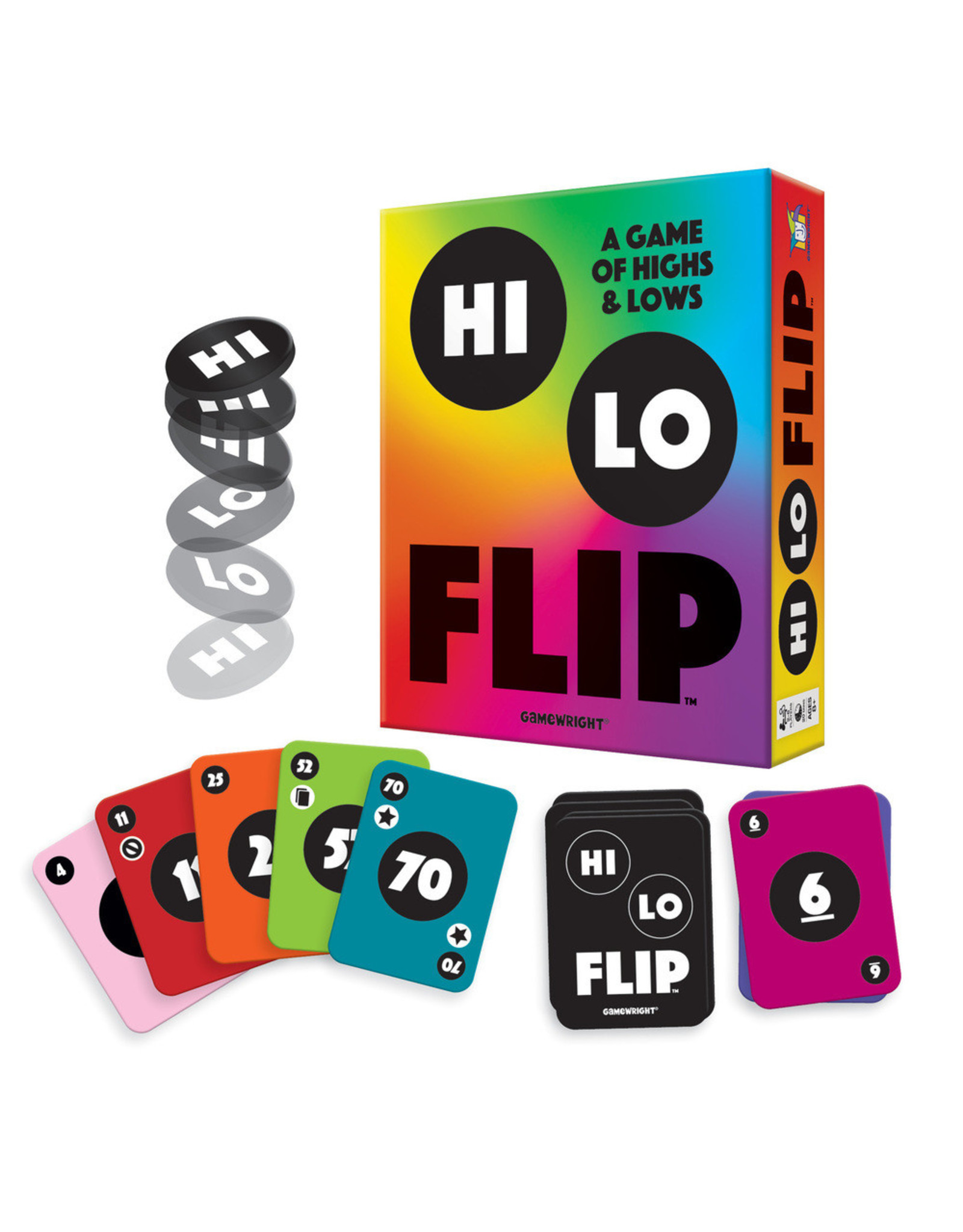 Gamewright Hi Lo Flip