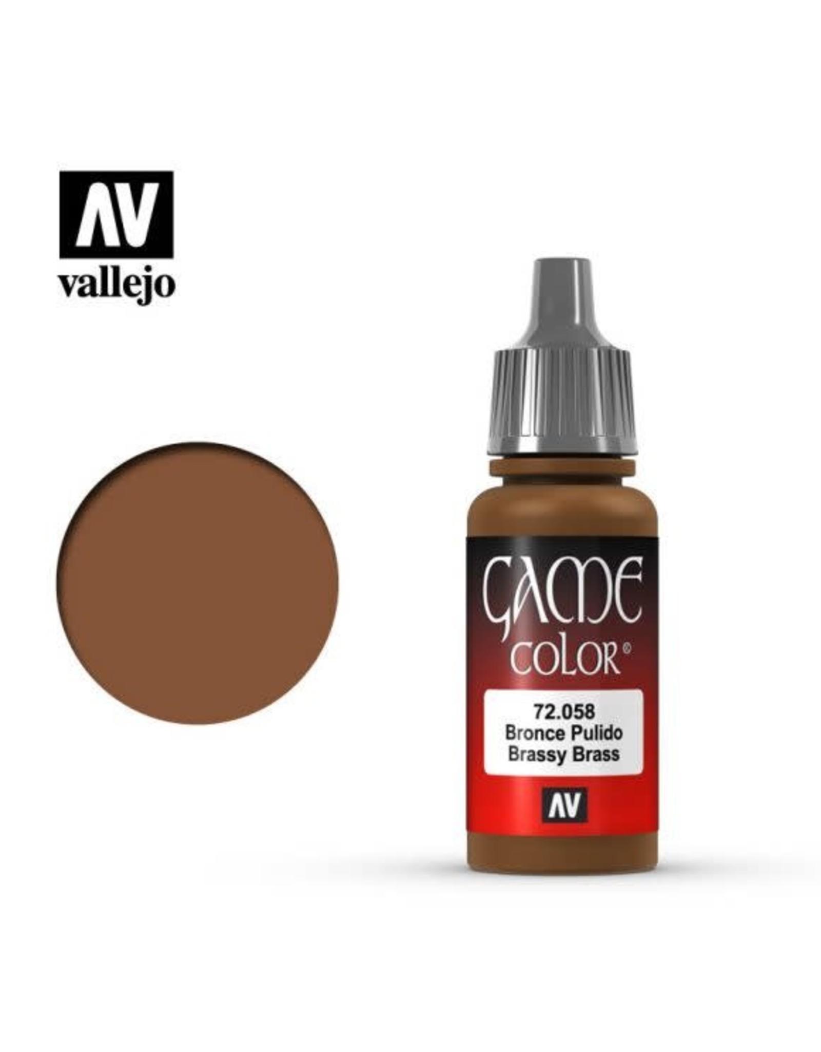 Vallejo Vallejo Game Color Paint: Brassy Brass 72.058