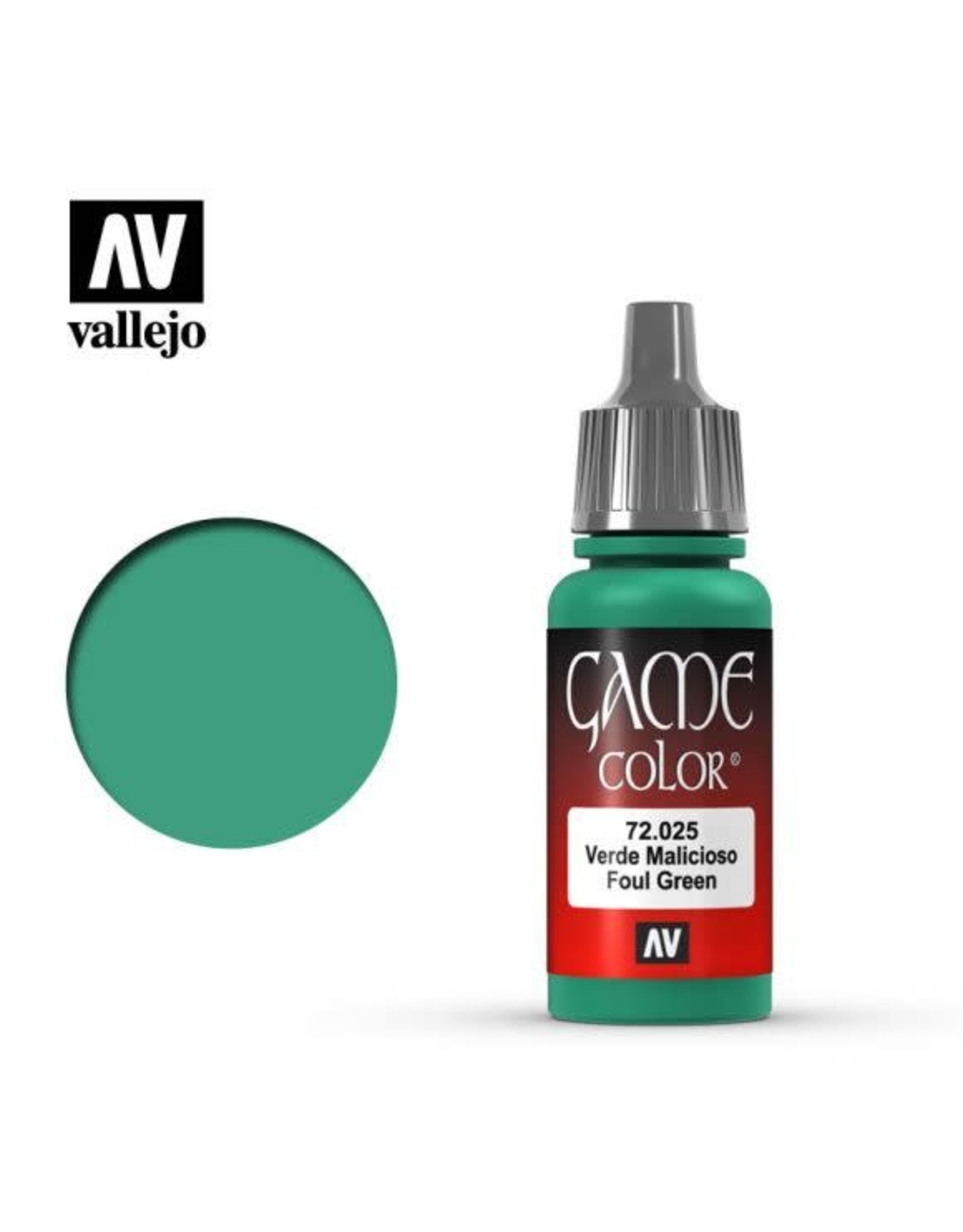 Vallejo Vallejo Game Color Paint: Foul Green 72.025