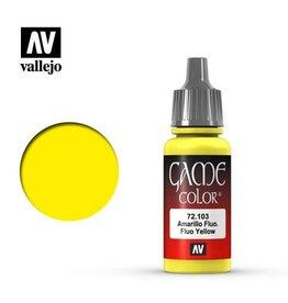 Vallejo Paint: Fluorescent Yellow 72.103