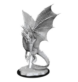 WizKids D&D Minis (unpainted): Young Silver Dragon Wave 11, 90036
