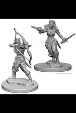 WizKids D&D Minis (unpainted): Elf Ranger (Female) Wave 1, 72638