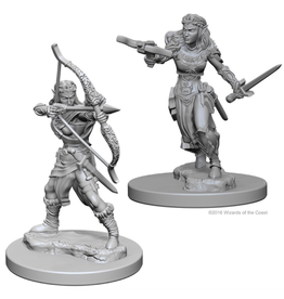 WizKids D&D Minis (unpainted): Elf Ranger (Female) Wave 1, 72638