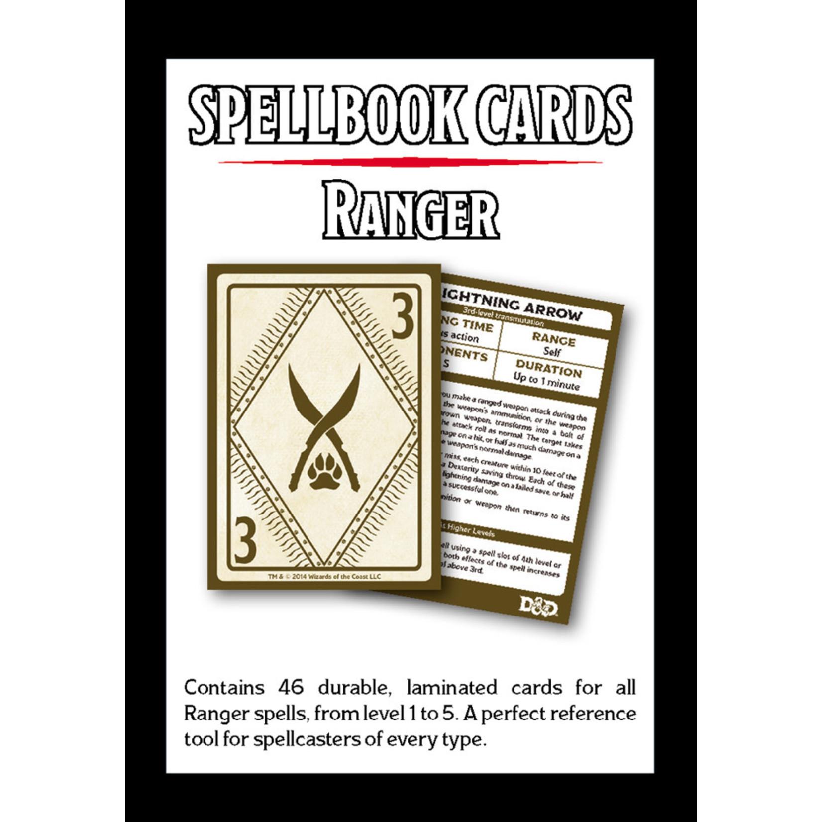 Gale Force Nine D&D 5e Spellbook Cards - Ranger
