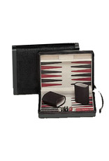 """Wood Expressions Backgammon 9"""" Black Magnetic"""