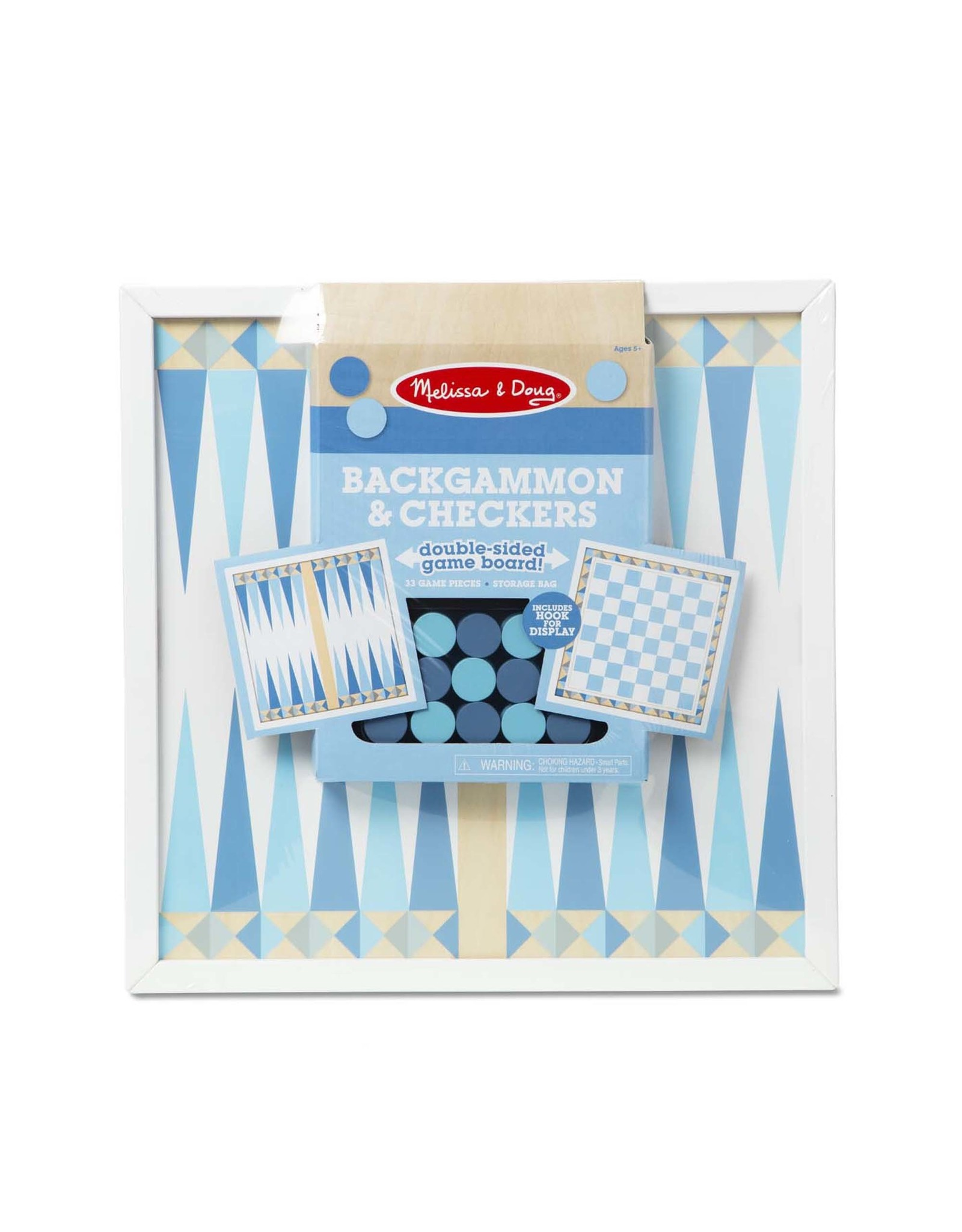 Melissa and Doug Wooden Backgammon & Checkers - Blue
