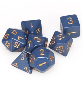 Chessex Dice: 7-Set Opaque Dusty Blue w/Copper (Chessex)