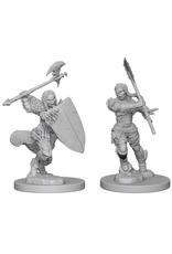 WizKids Pathfinder Battles Deep Cuts (unpainted): Half-Orc Barbarian (female)