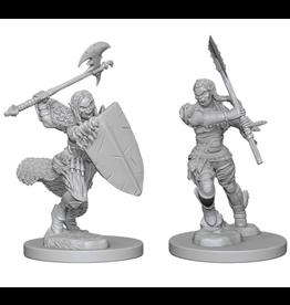 WizKids Pathfinder Minis (unpainted): Half-Orc Barbarian (female)