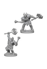 WizKids Pathfinder Minis (unpainted): Half-Orc Barbarian (male) Wave 3, 72613