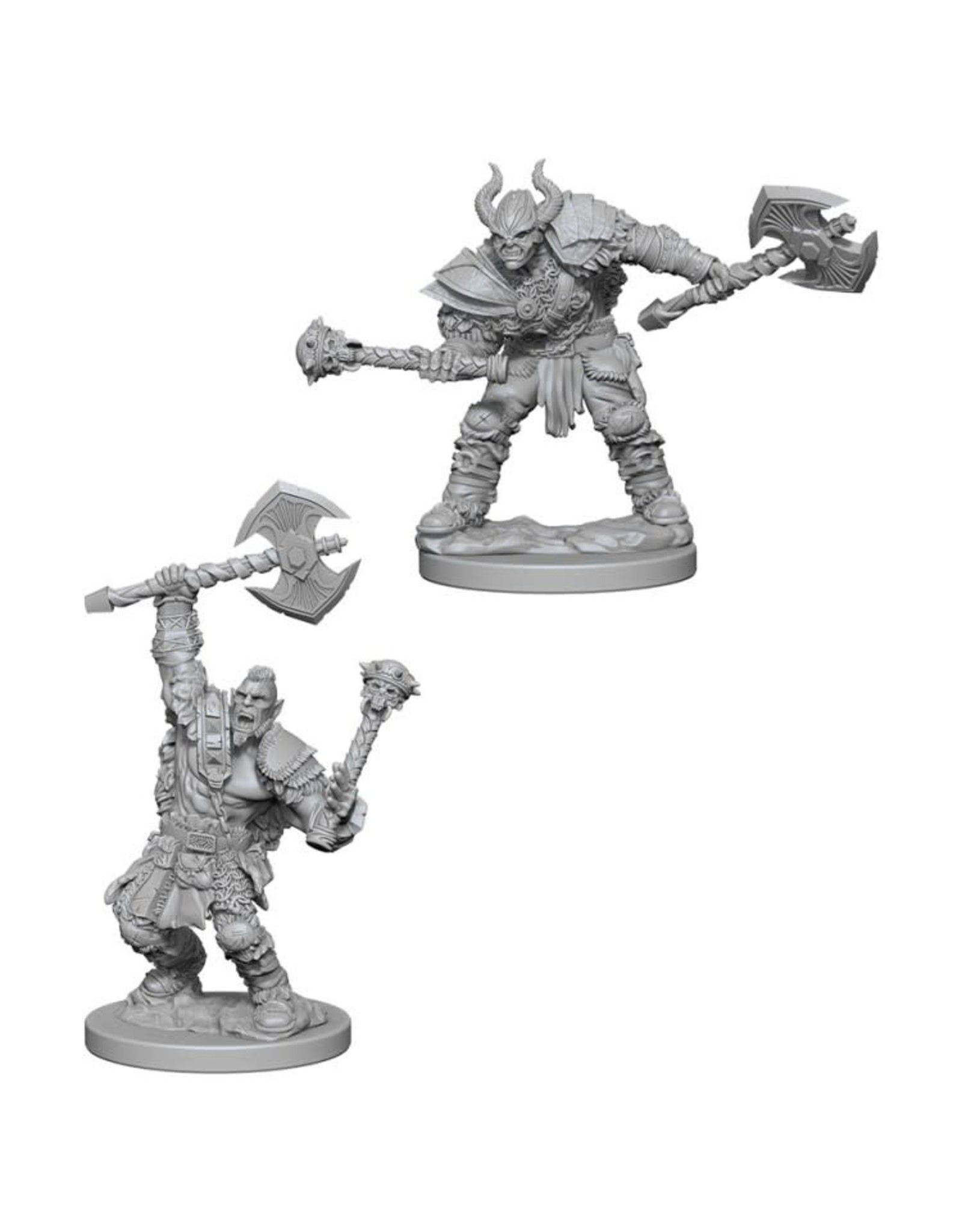 WizKids Pathfinder Battles Deep Cuts (unpainted): Half-Orc Barbarian (male)