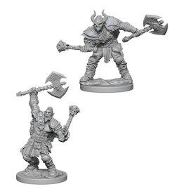 WizKids Pathfinder Minis (unpainted): Half-Orc Barbarian (male)