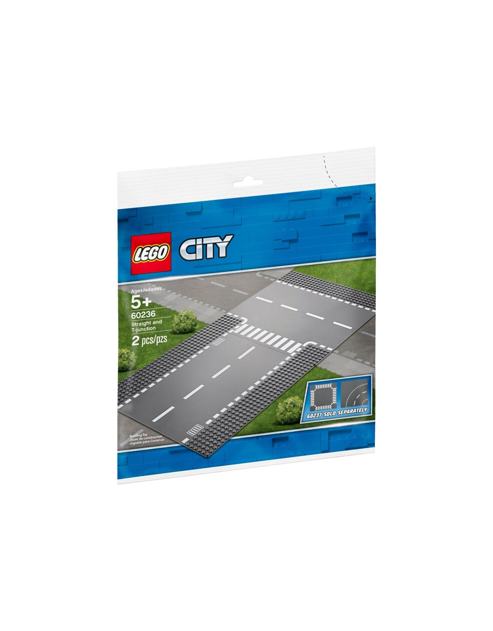 LEGO LEGO City Straight and T-junction Base Plate