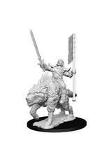 WizKids Pathfinder Battles Deep Cuts (unpainted): Orc on Dire Wolf